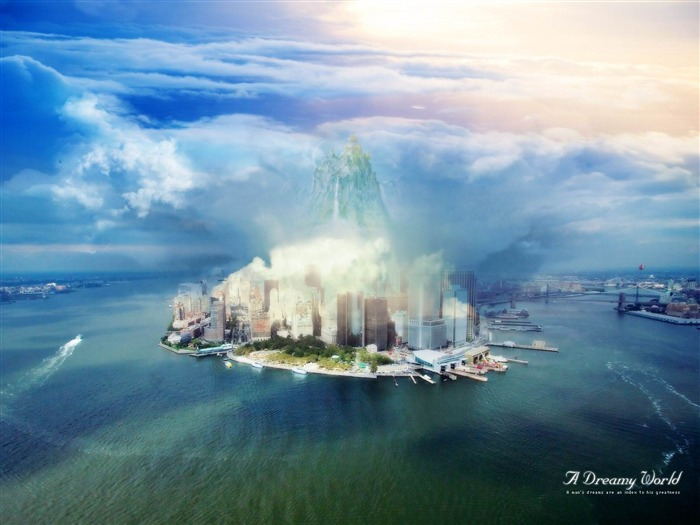 dreamy city world-Dreamy and Fantasy wallpaper Views:4087