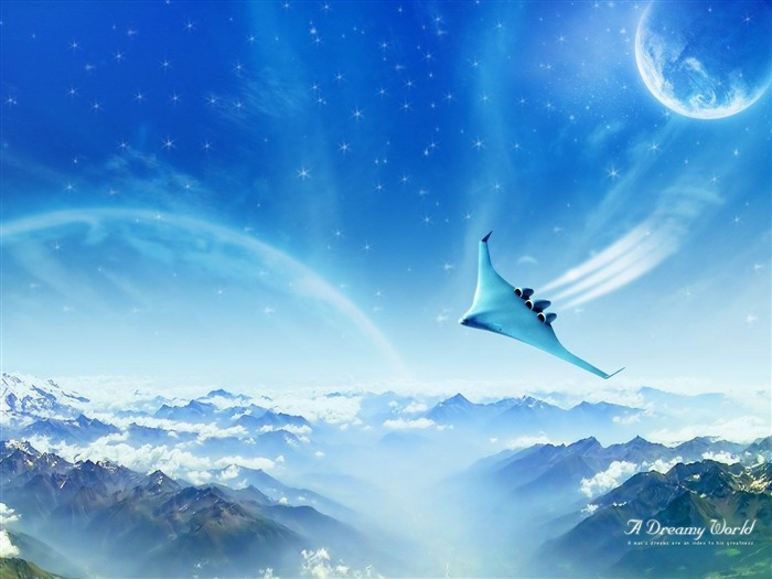 dreamy jet world-Dreamy and Fantasy wallpaper Views:4906