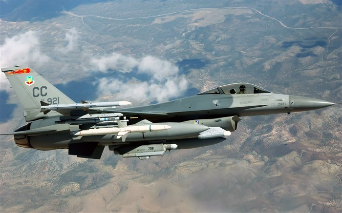 f 16c fighting falcon-Military Aircraft Wallpaper Views:4494