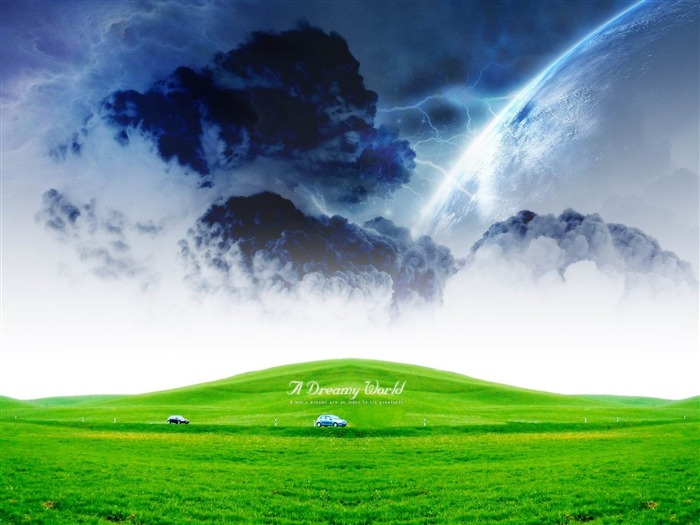 green dreamy world-Dreamy and Fantasy wallpaper Views:8234
