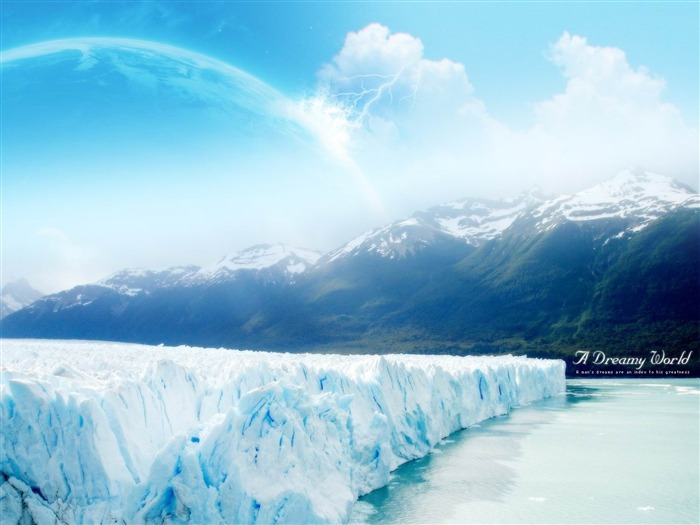ice dreamy world-Dreamy and Fantasy wallpaper Views:7803