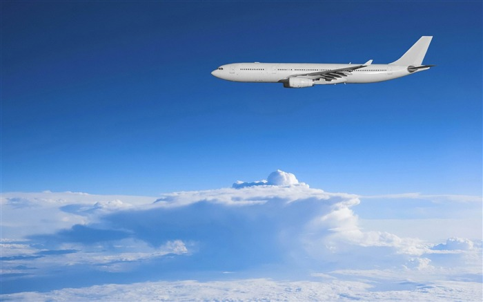 Airbus above the clouds-Aircraft transport Wallpaper Views:7176