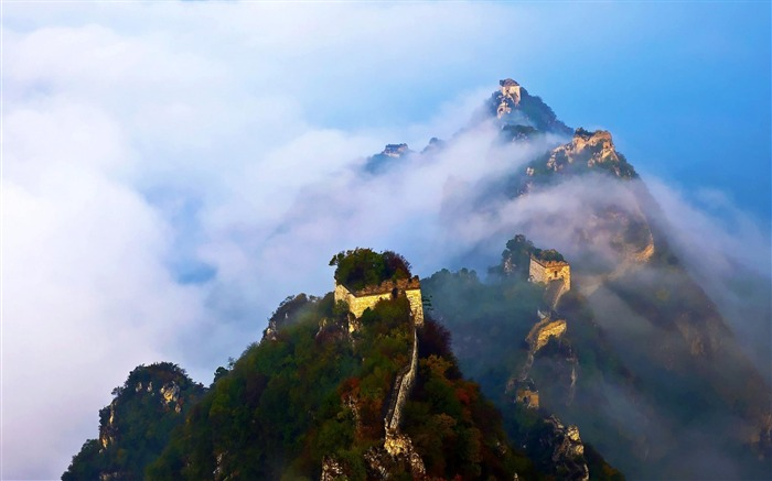 China Great Wall-natural landscape wallpaper Views:16252
