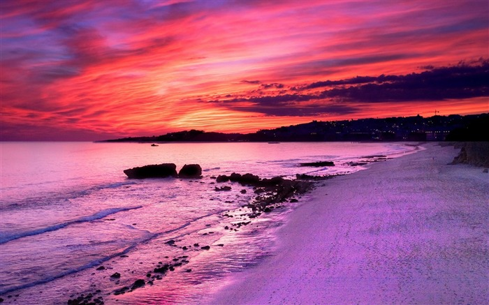 Purple Sunset-natural landscape wallpaper Views:9187
