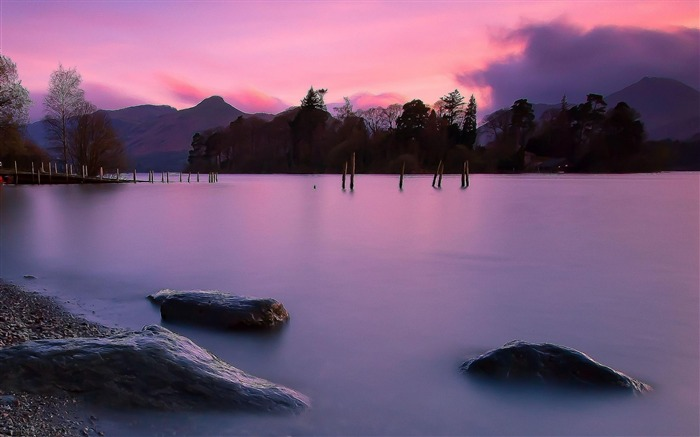 Purple Sunset Hd-natural landscape wallpaper Views:5649