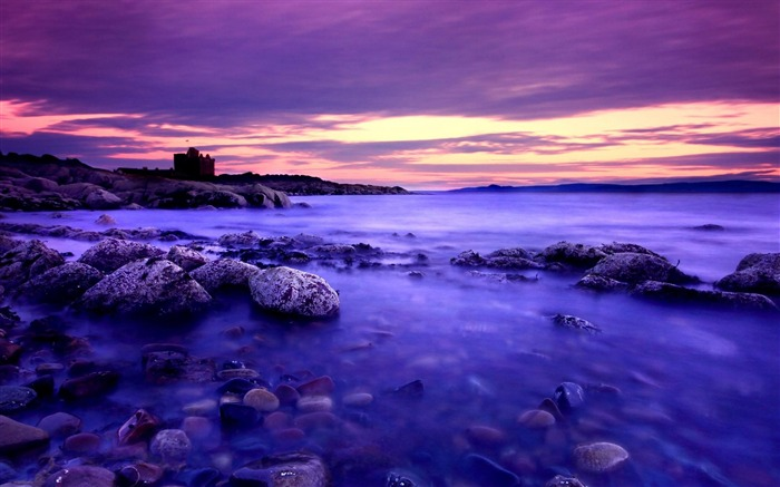 Purple Sunset Photo-natural landscape wallpaper Views:6590