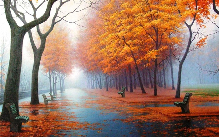 awesome Autumn-natural landscape wallpaper Views:20119