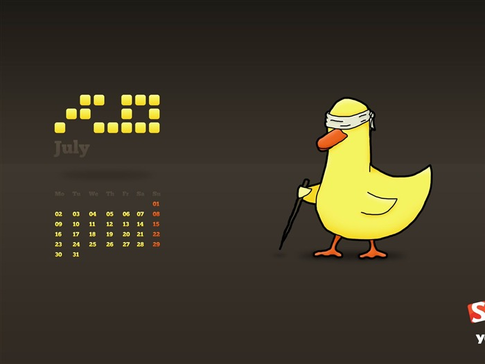 blind duck-July 2012 calendar wallpaper Views:6129 Date:7/1/2012 1:45:46 AM