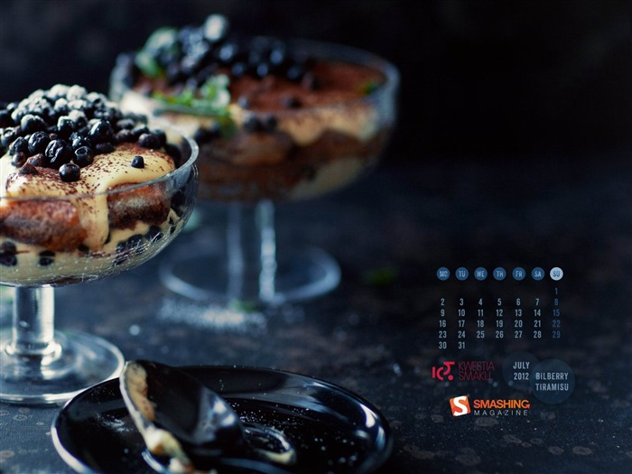 blueberry tiramisu-July 2012 calendar wallpaper Views:7361 Date:7/1/2012 1:44:10 AM
