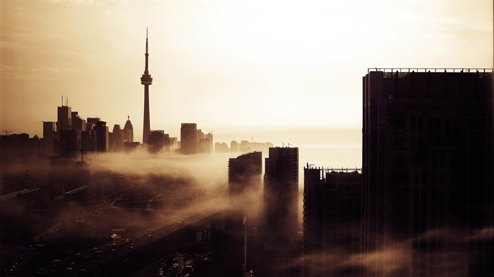city fog-Vintage style wallpaper Views:5099