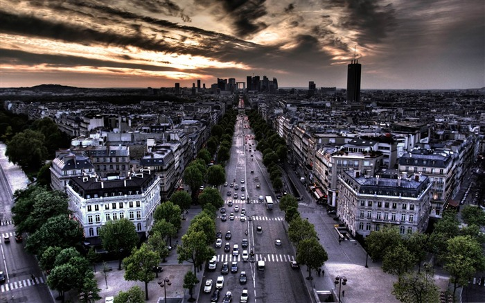 paris aerial view from triumphal arch-France landscape wallpaper Views:16195 Date:7/4/2012 7:53:27 PM