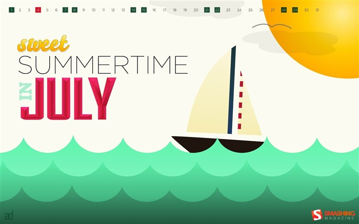 July 2012 calendar desktop themes wallpaper Views:14538
