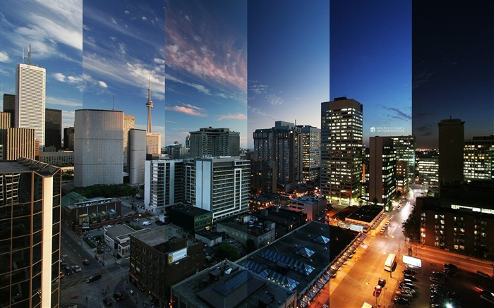 toronto reflections canada-City travel landscape wallpaper Views:9754