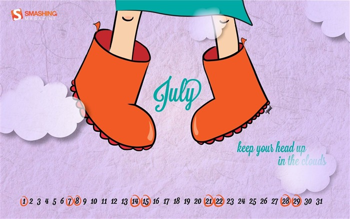 up in the clouds -July 2012 calendar wallpaper Views:3723 Date:7/1/2012 2:09:26 AM