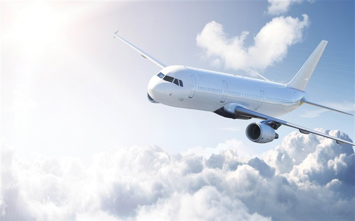 white airplane-Aircraft transport Wallpaper Views:14277