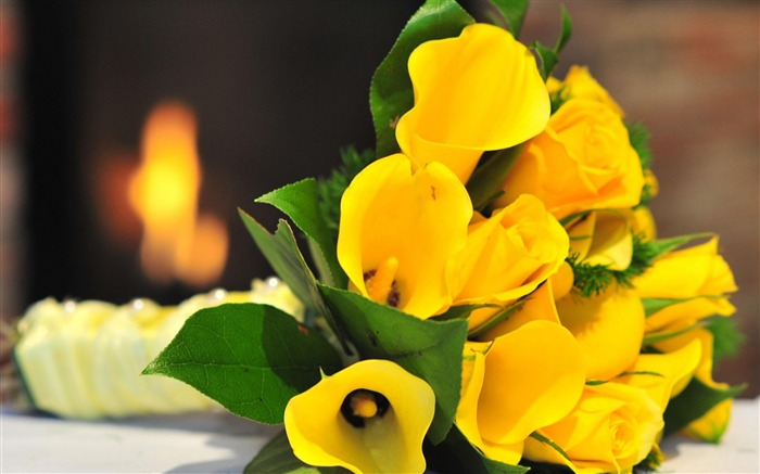 Yellow Bouquet-flowers photography wallpaper  Views:5795