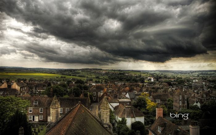 Before the storm the town of Rye United Kingdom-Bing Wallpaper Views:14562
