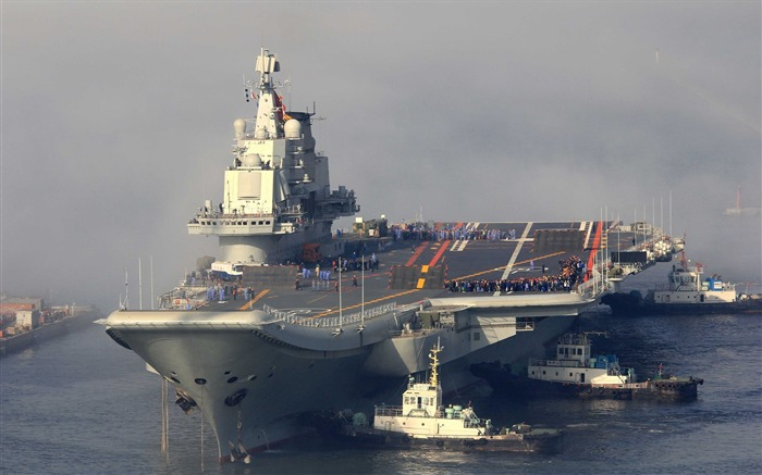 Chinese aircraft carrier 16th HD photography wallpaper Views:11136