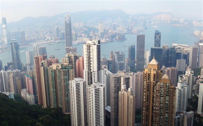 Hong Kong Skyline China-City photography wallpaper Views:27712