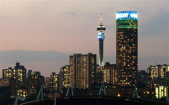 Johannesburg City Lights South Africa-City photography wallpaper Views:13659