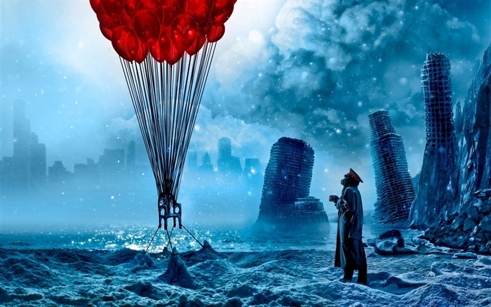Romantically Apocalyptic creative painting wallpaper Views:11460