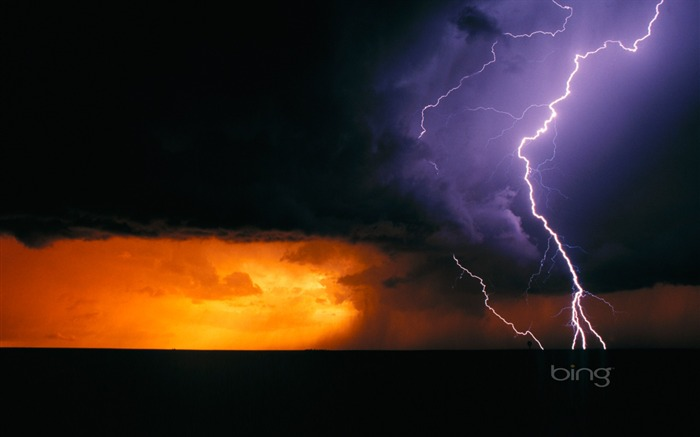 Texas the day of Lightning-Bing Wallpaper Views:31682