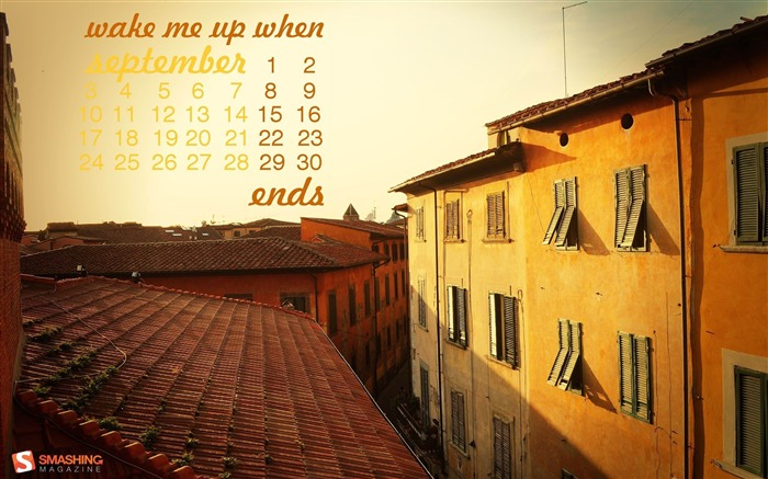September 2012 calendar desktop themes wallpaper Views:15951