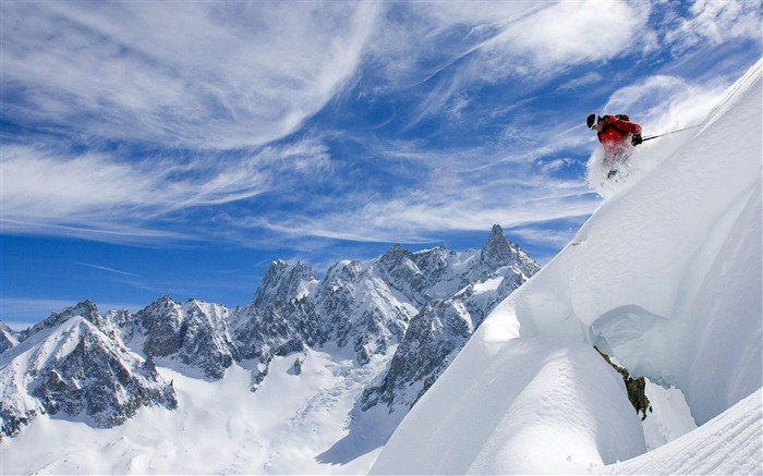 mountain Skiing-Nature Landscape Wallpapers Views:20837