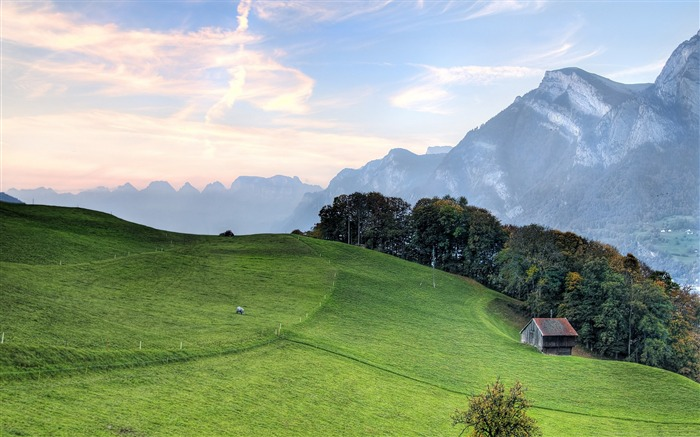 mountain pasture-Nature Landscape Wallpapers Views:12040