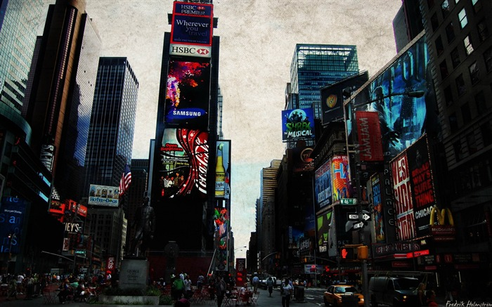 times square-City photography wallpaper Views:7370