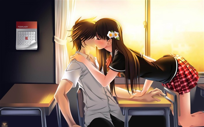 Cute Anime Couple Picture Desktop Wallpaper Views:24899