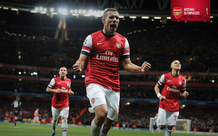Arsenal 3-1 Olympiakos-Arsenal 2012-13 season wallpaper Views:12374