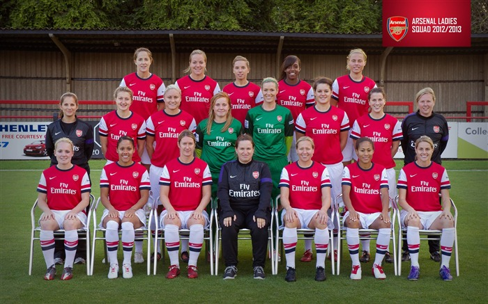 Arsenal Ladies Squad-Arsenal 2012-13 season wallpaper Views:8286