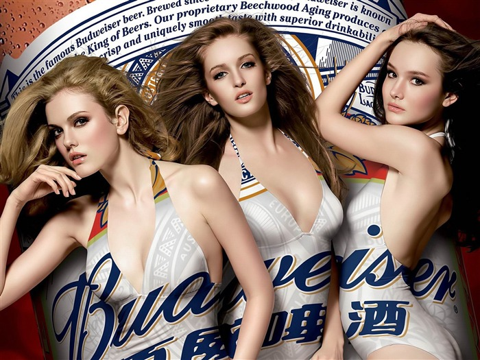 Budweiser girl Advertising desktop HD Wallpapers Views:10941