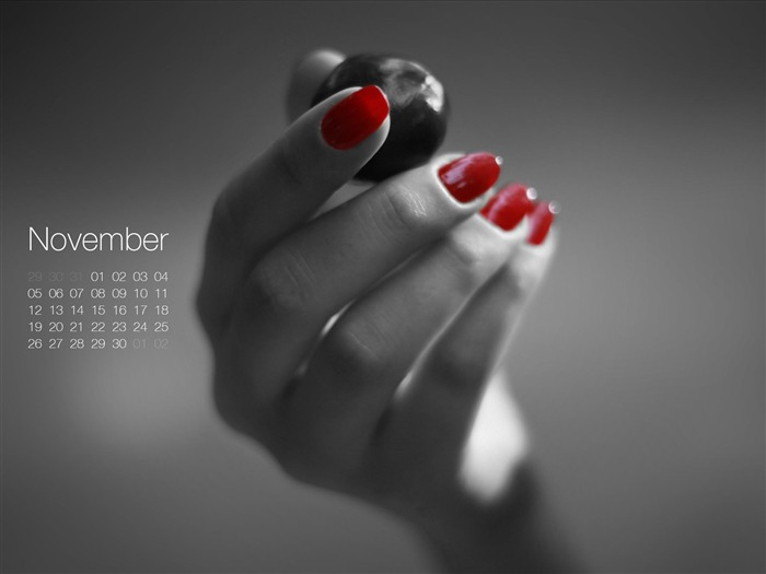 Bursting Chestnut-November 2012 calendar wallpaper Views:4905