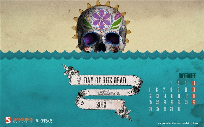 Calaca The Day Of The Dead-November 2012 calendar wallpaper Views:8310