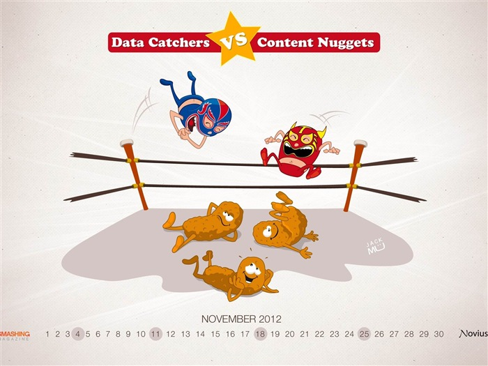 Content Nuggets vs Data Catchers-November 2012 calendar wallpaper Views:4721