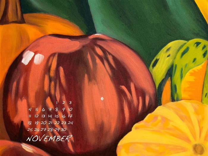 Fall Harvest-November 2012 calendar wallpaper Views:5332