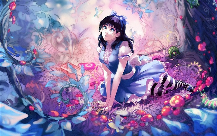 Girl Fairy Forest-Anime design HD wallpaper Views:37515
