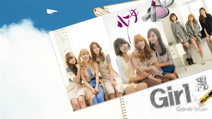 Girls Generation-beautiful idols combination of HD photo wallpapers 15 Views:4256