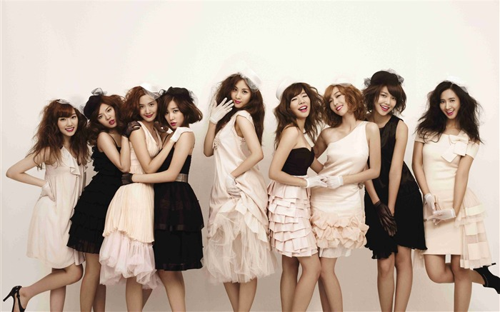 Girls Generation-beautiful idols combination of HD photo wallpapers 32 Views:5723