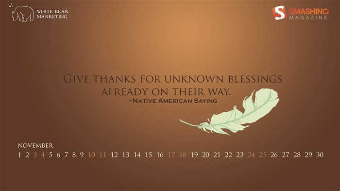 Give Thanks-November 2012 calendar wallpaper Views:6037
