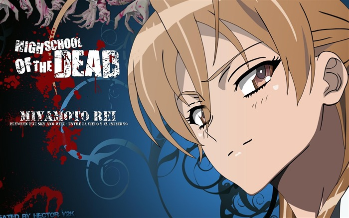 High School of the Dead-Anime design HD wallpaper Views:18195