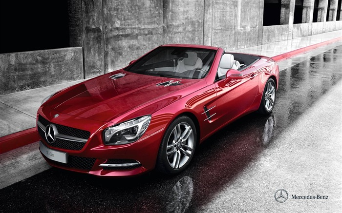 Mercedes Benz SL roadster auto HD Wallpaper Views:13740