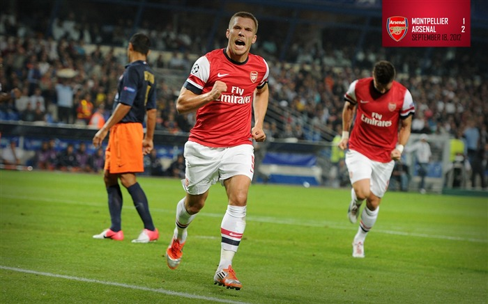Montpellier 1-2 Arsenal-Arsenal 2012-13 season wallpaper Views:7968