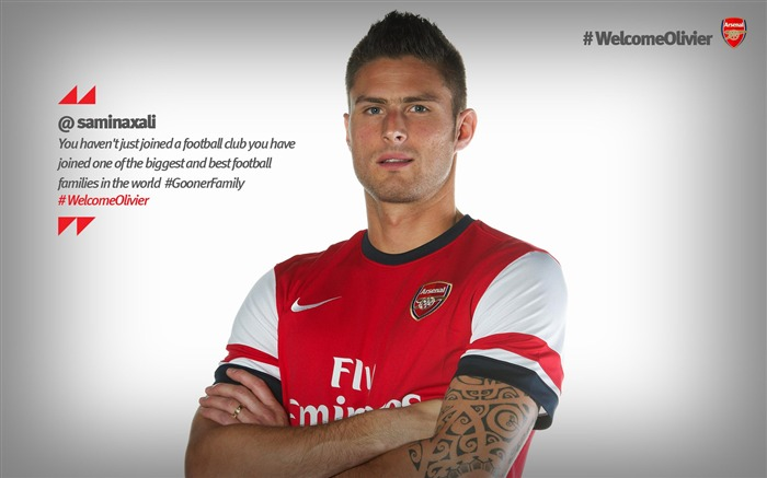 Olivier Giroud-Arsenal 2012-13 season wallpaper 01 Views:11356
