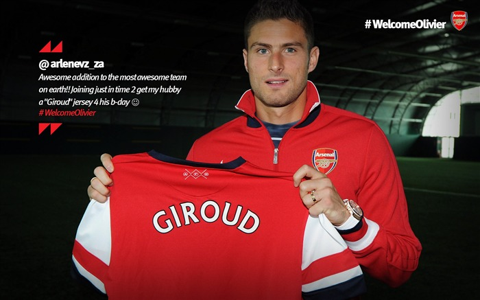 Olivier Giroud-Arsenal 2012-13 season wallpaper Views:10509