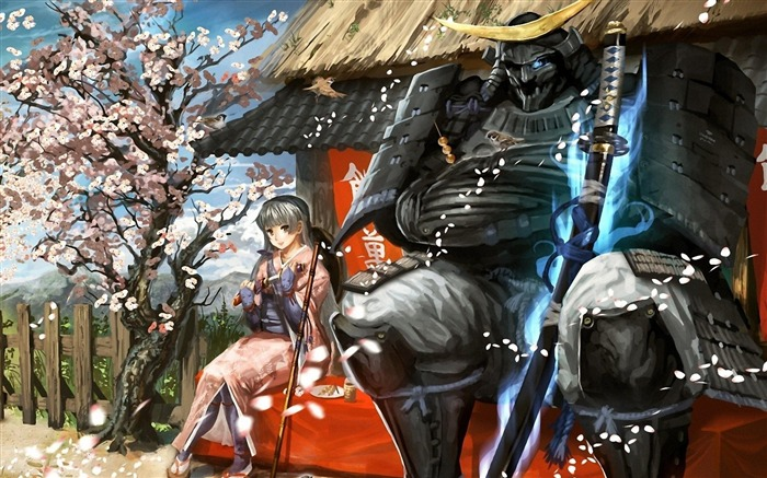 Samurai-Anime design HD wallpaper Views:47753