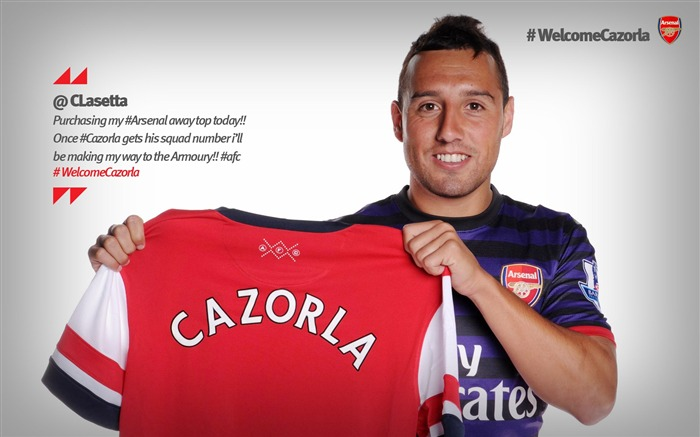 Santi Cazorla-Arsenal 2012-13 season wallpaper 02 Views:6164