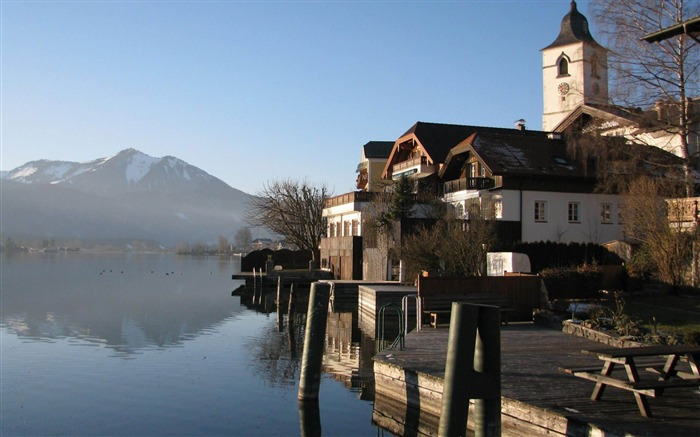 Wolfgangsee Austria-architectural landscape wallpaper Views:4099